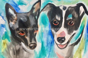 Pet Portrait - Commissioned 50 X75Cm Originals