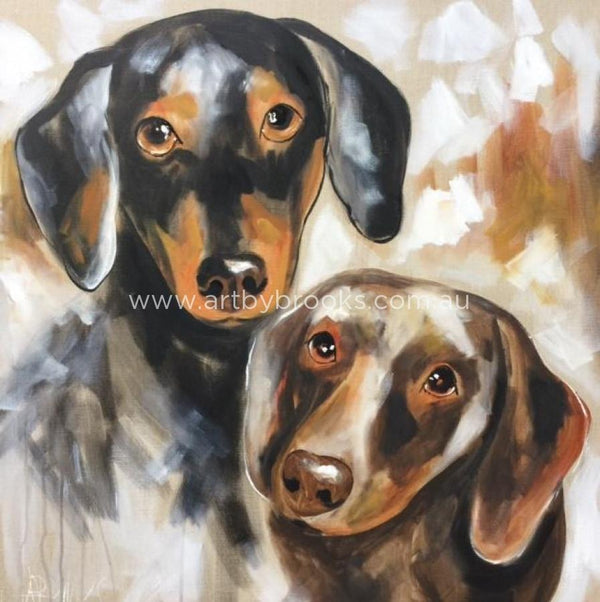 Pet Portrait - Dashies 90X90Cm Original