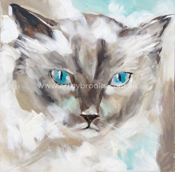 Pet Portrait - Faith Commisioned 50 X50 Cm Originals