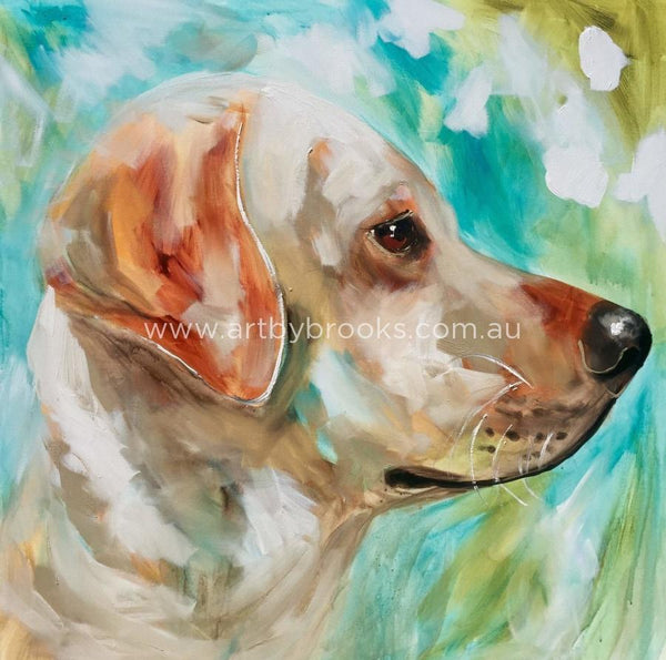 Pet Portrait -Labrador - 90X90Cm Original