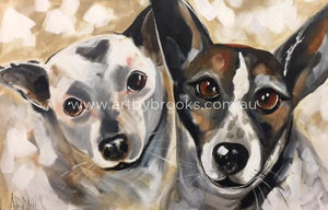 Pet Portrait - Milo And Friday 50 X75 Cm Pet