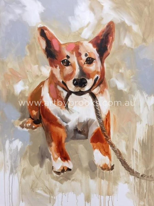 Pet Portrait - Original On Canvas 90X120Cm Original