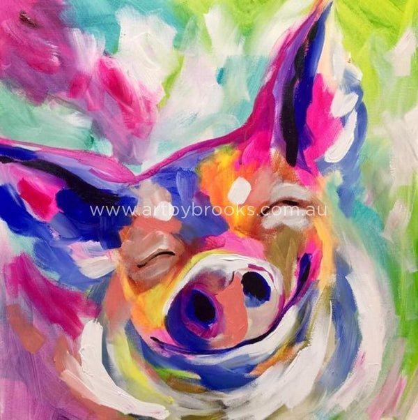 Pet Portrait- Pig - 50X50Cm Originals