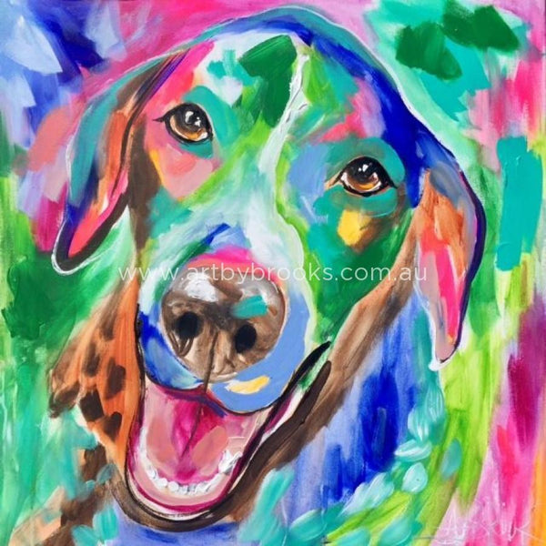 Pet Portrait - Sadie 60X60 Cm Originals