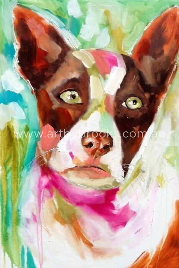 Pet Portrait - Sheila Commisioned 60 X90 Cm Originals