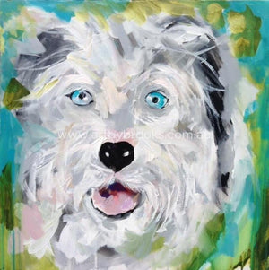 Pet Portrait - Smithy Commisioned 60 X60 Cm Originals