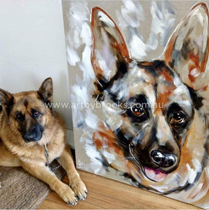 Pet Portrait - Zara 90X90Cm Originals