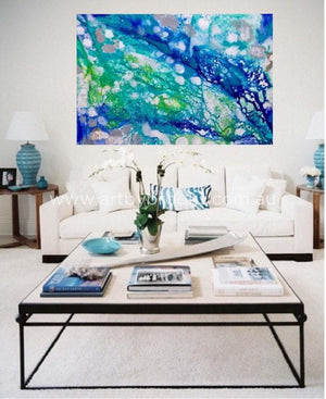 Plantation Island- Original On Canvas 120 X180 Cm Originals