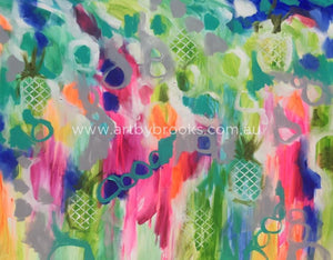 Plantation Paradise - Original On Canvas 120 X150 Cm Originals