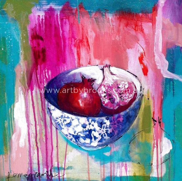 Pomegranate - Original On Canvas 60 X60 Cm Originals