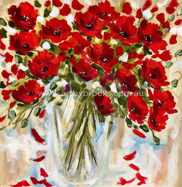 Poppies For Grace - Art Print Art