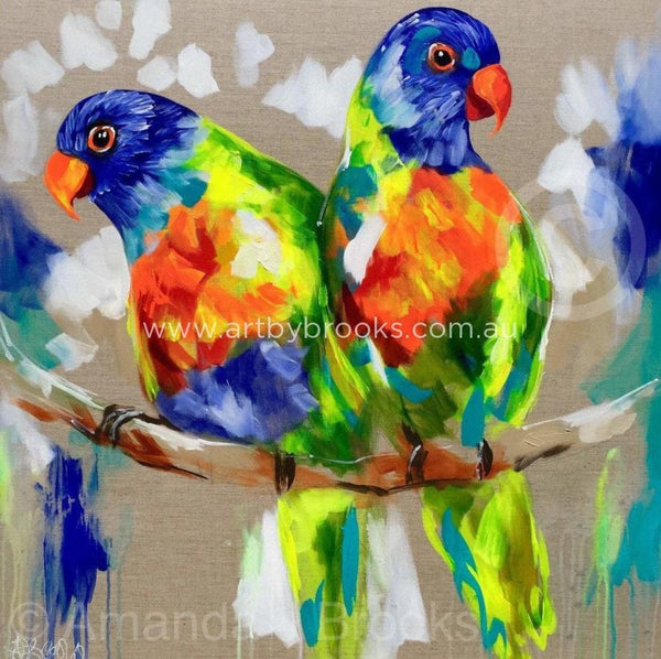 Rainbow Duet - Art Print Art Prints