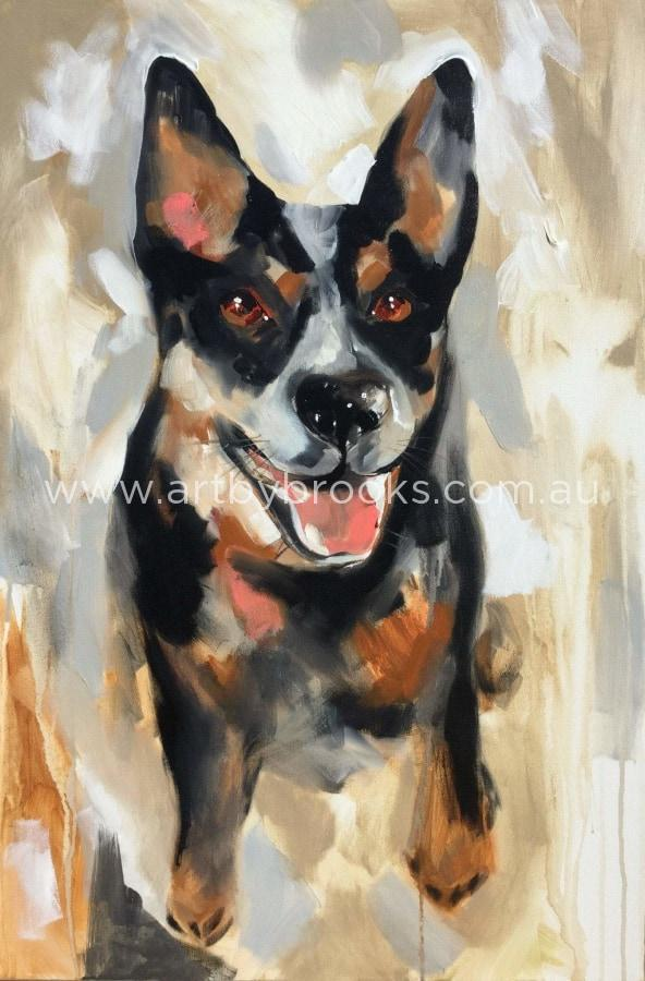 Red- Pet Portrait Commissioned 60 X90 Cm Originals