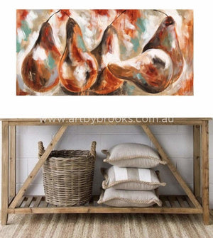 Rustic Harvest - Original On Canvas 75 X150 Cm Originals