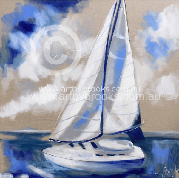 Sail Away - Art Print 50X50Cm Art Prints