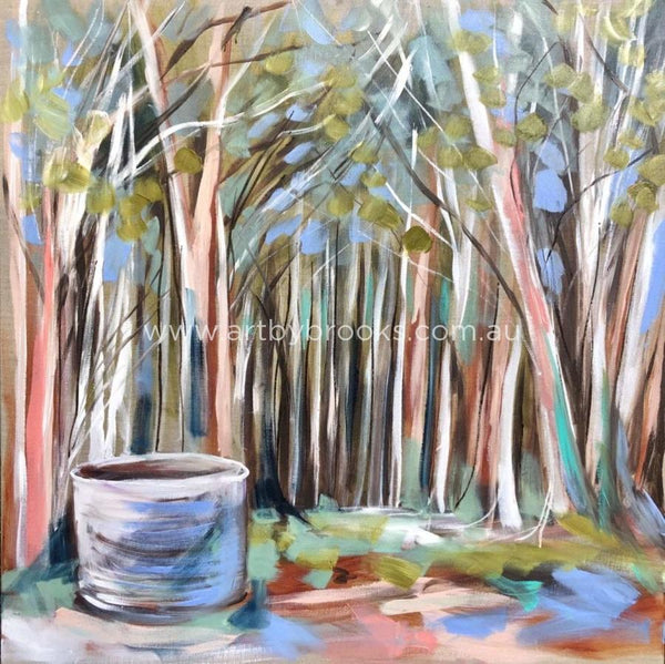 Salmon Gums And Old Water Tank -Art Print Art