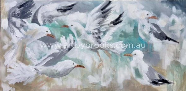 Seagull Haven - Art Print Art