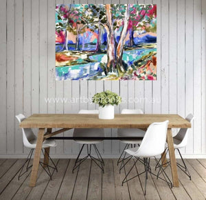 Shaded Billabong - Original On Canvas 75X100Cm Originals