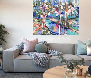 Snow Gum Billabong - Original On Canvas 75X100Cm Originals