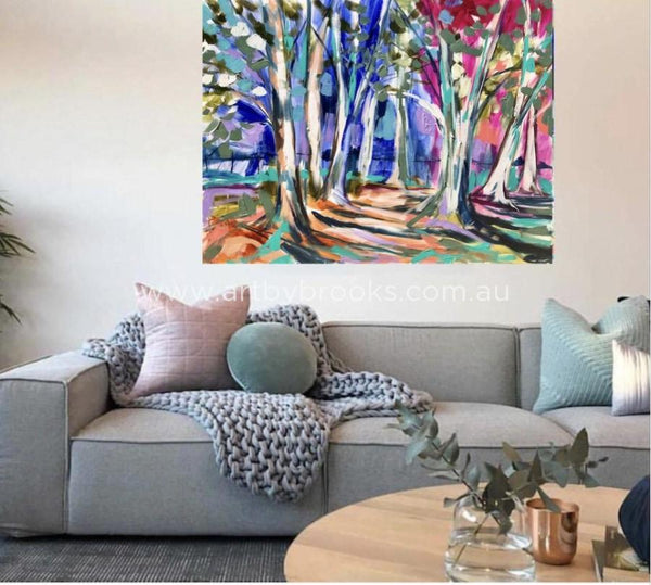 Snow Gum Lane - Original On Canvas 75X100Cm Originals
