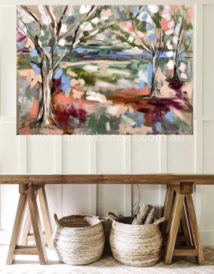 Snow Gum Paddock - Original On Canvas 90X120Cm Originals