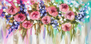 Springtime Flourish - Original On Canvas 75 X150 Cm Originals