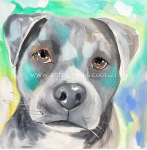 Staffy -Art Print Art