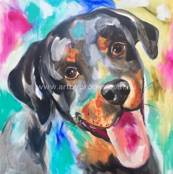 Storm - Pet Portrait 76X76Cm Pet