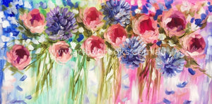 Summer Glory - Original On Canvas 75 X150 Cm Originals