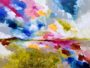 Summer Winds -Original On Canvas 90X120Cm Originals