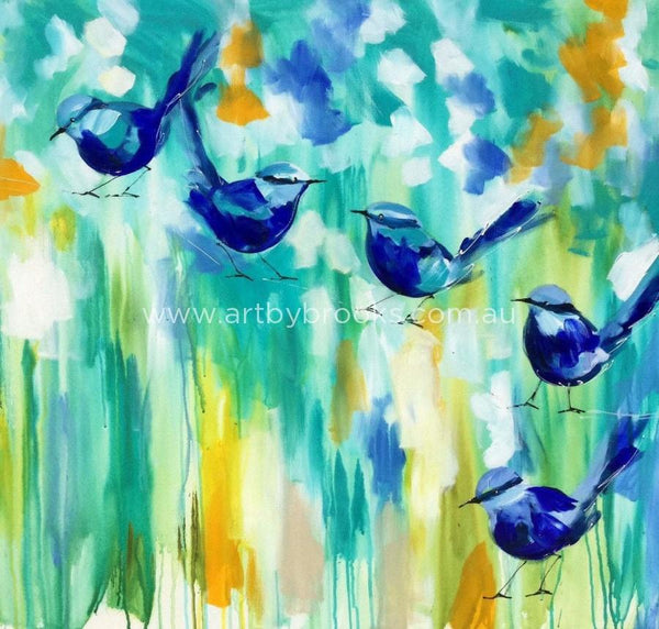 Sunshine Wrens - Art Print Art Prints