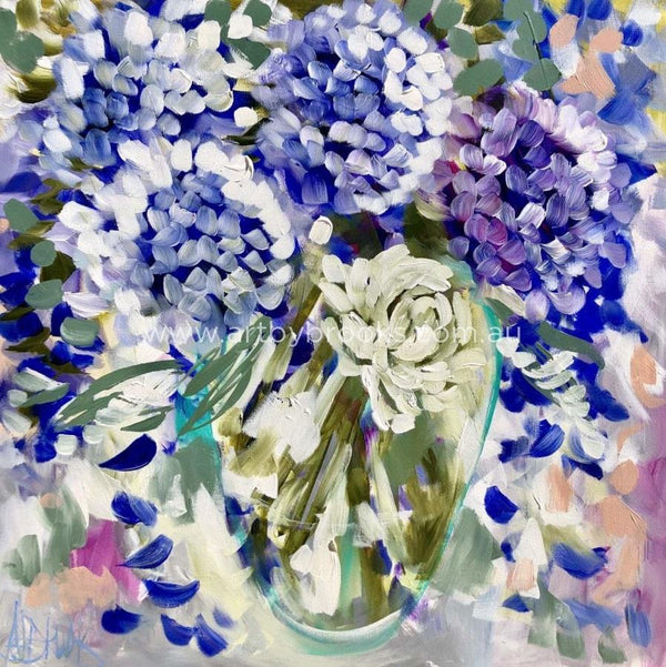 Sweet Gardenia And Hydrangea -Art Print Art