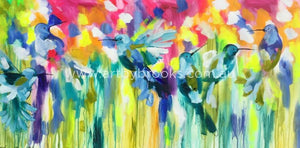 The Light You Shine - Original On Canvas 75 X150 Cm Originals