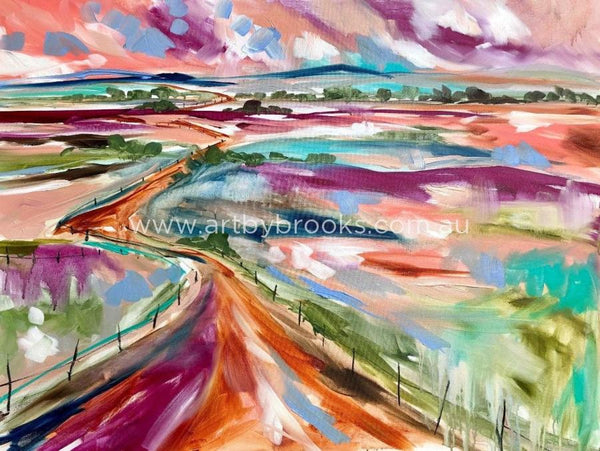 The Road That Leads Me Home - Art Print Art