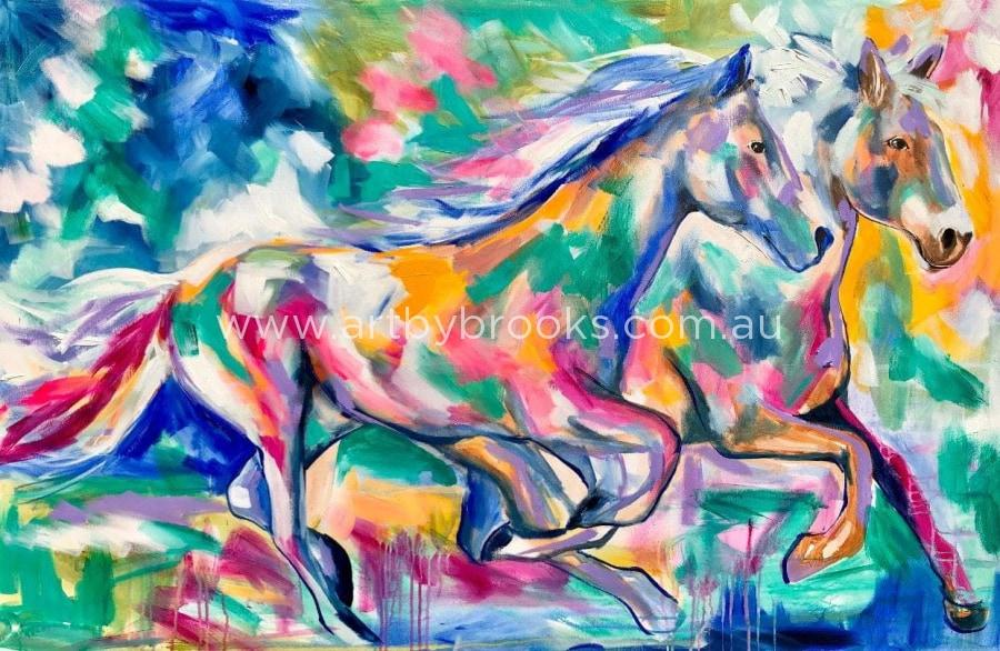 Thundering Hooves Art Print Art By Brooks Check out inspiring examples of hooves artwork on deviantart, and get inspired by our community of talented artists. art by brooks