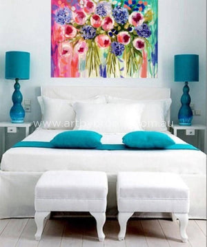 Tulip Bounty -Original On Canvas 90 X120 Cm Originals