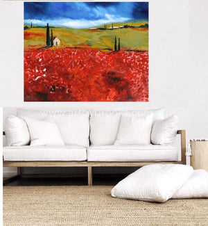 Under The Tuscan Sun - Original On Canvas 120 X150 Cm Originals