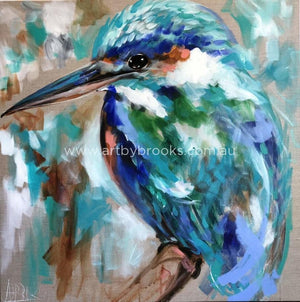 Vibrant Kingfisher -Art Print Art