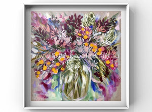 Vibrant Native Blooms -Art Print Art