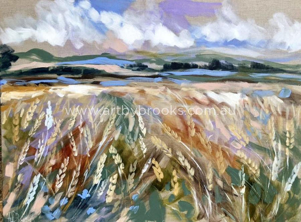 Wheat Field - Art Print Art