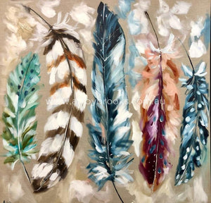 Winter Feathers - Art Print Art Prints