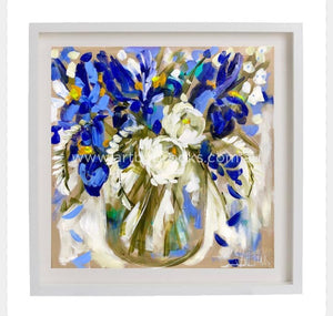 Winter Iris And Freesias - Art Print Art