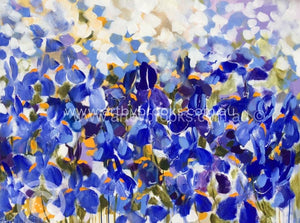 Winter Iris - Original On Canvas 90 X120 Cm Originals