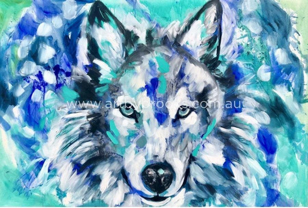 Winter Wolf -Art Print 50X50Cm Art