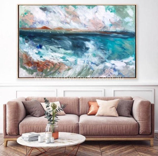With Wind In Our Sails - Original On Gallery Canvas 120X180 Cm Medium Sized Originals