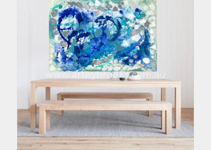 You Me And The Sea -Original On Canvas 120 X180 Cm Originals