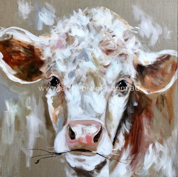 Young Hereford -Art Print Art
