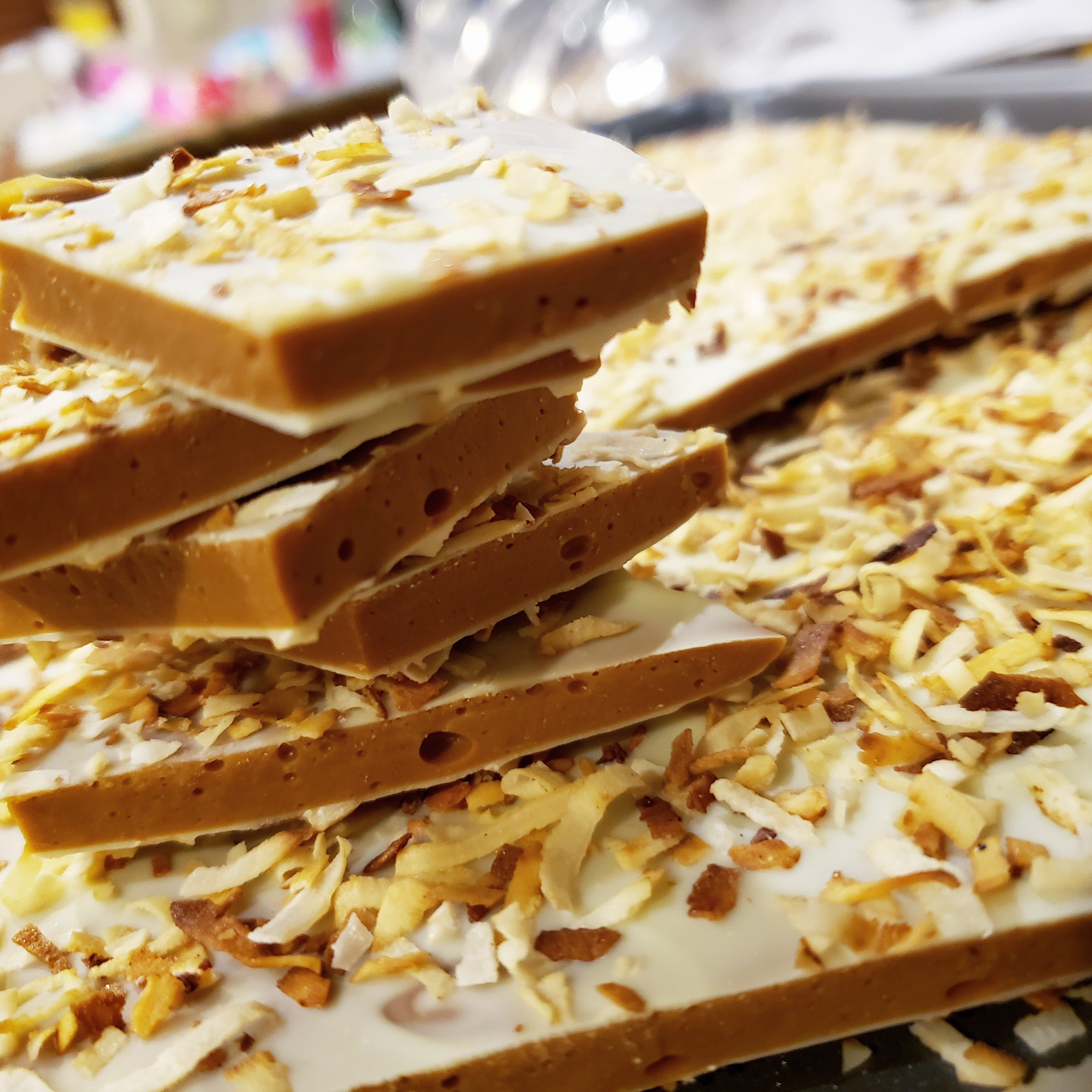 NEW- White Chocolate Coconut Toffee