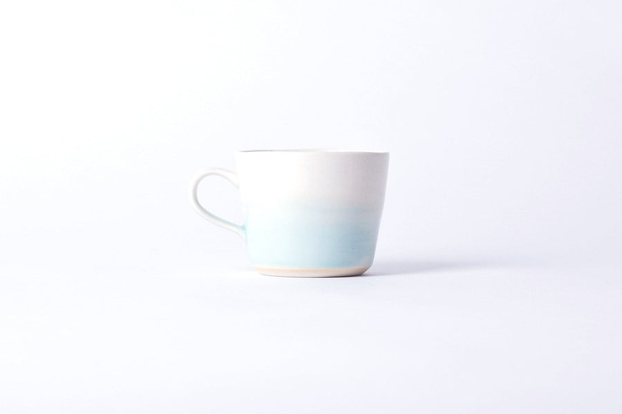 "KINTO ""atelier tete"" Artisan Mug White x Light Blue"