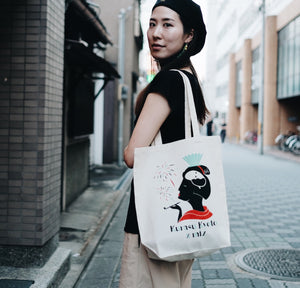 Kurasu x Miz Collaboration Tote Bag (Origami)